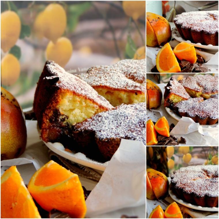 Torta di arance con cioccolato e pere, la ricetta di Tanina Vanacore